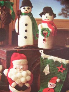 Lot Christmas Afghans Tree Skirts Decorations Ornaments Crochet Knit Patterns