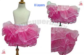 Age 1 4 Kids Baby Girl Lovely Colourful Pink Tutu Dress Pettiskirt Summer Party