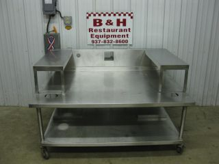 "60"" Stainless Steel Equipment Stand 5' Table for 3' 36"" Griddle Grill Fryer"