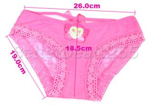 Sexy Cozy Lingerie Briefs Lace Panties Underwear Pink