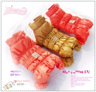 Autumn Winter Ski Suit Dog Clothing Coat Cotton Warm Dog Jacket Sweater Clothes