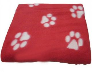 New Pets Puppy Dogs Cats Fleece Warm Bed Paw Prints Seat Cover Mat Blanket