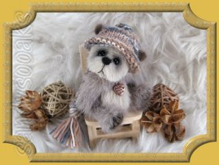 Sandysooaks Artist Teddy Bear Ajamu Mini 2 8 inches OOAK by Sandy 3 Day Auction