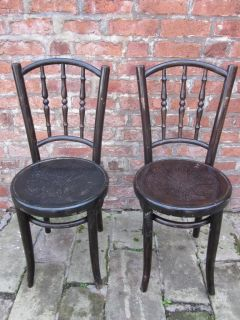 Lovely Pair of Art Deco Bentwood Chairs by Mundus Kohn c1925 Vintage Retro Chic