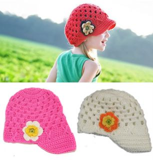 1pc Girls Kid Toddler Baby Handmade Crochet Hat Cap Beanie Casquette Photo Prop