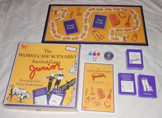 The Worst Case Scenario Survival Junior 2003 Family Board Game University Games