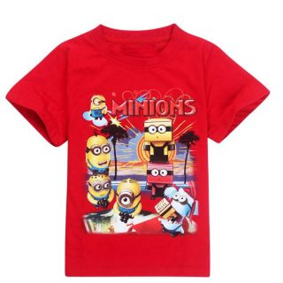 New Minions Despicable Me Kids Boys Girls Short Sleeve T Shirts 4 5 Years 110