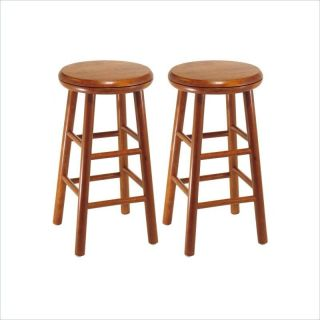 "Winsome Windsor 24"" Swivel Counter Cherry Set of 2 Bar Stool"
