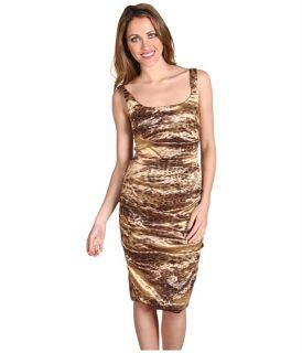 Nicole Miller Leopard On Techno Metal Dress $129.00 (  MSRP $
