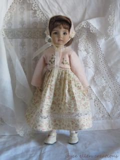 "13"" Dianna Effner Little Darling BJD Roses Lace OOAK 4 PC Set Handmade by JEC"