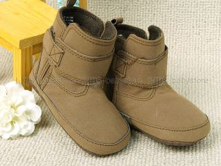 New Toddler Baby Girl Boy Brown Boots Shoes Size EU 19 20 A806