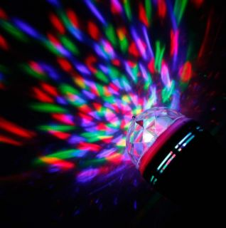 E27 3W Voice Activated Rotating RGB LED Party DJ Disco Stage Light Bulb 85V 265V