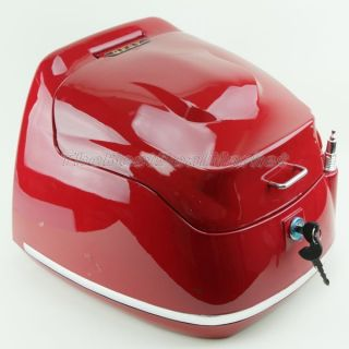 Black Stylish Scooter Motorcycle Touring Trunk Top Case w Reflection Light