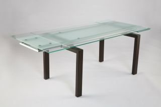 Contemporary Modern Glass Top Dining Table 02340