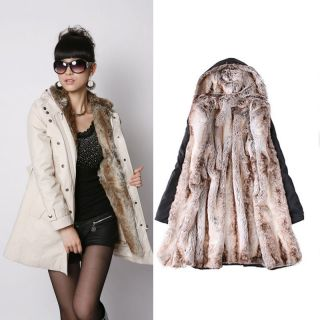 Hot Lady Women Thick Warm Winter Coat Hoody Parka Outwear Long Jacket Overcoat