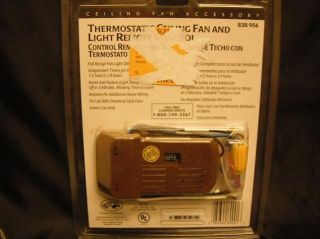 Hampton Bay Thermostatic Ceiling Fan and Light Remote Control 838 956 Brown