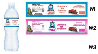 Thomas The Train Tank Printed Water Bottle Labels Birthday Party Favors Supplies