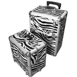 Pro Aluminum Rolling Makeup Case Salon Cosmetic Organizer Trolley 4 Styles