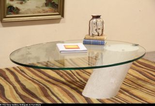 Lucia Mercer for Knoll Midcentury Modern Glass Marble Cocktail Table