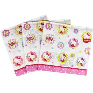Authentic Sanrio Hello Kitty Kids Child Birthday Party 20pcs Tissue Napkins New