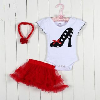 Baby Toddler Infant Girl Headband Romper Skirt Outfit Clothes Baby Tutu Dress