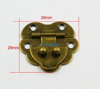 10 Antique Brass Decorative Hasp Jewelry Box Hasp Lock Latch 29x29mm with Screws