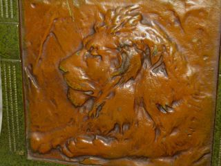 Antique Cast Iron Judd Mfg Co Safari Jungle Zoo Lion Cat Art Sculpture Bookends