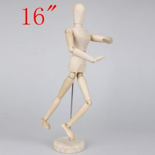 "16"" Artist Art Class Wooden Figure Male Manikin Mannequin for Drawing Display"
