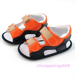 Boy's Sandals Baby Infant Soft Sole Toddler Shoes Skid Proof 6 18 Months Orange