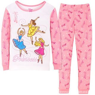 Girls Pink Princess 2 PC Sleep Set Pajama 18M 6yrs 391