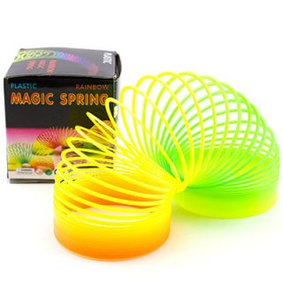 Colorful Rainbow Plastic Magic Spring Childrens Toy Slinky Childs Toy 2 5""
