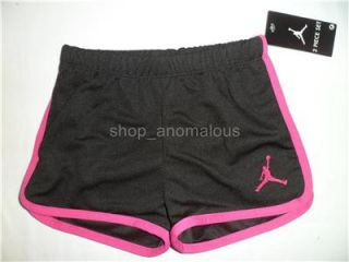 Nike Air Jordan Baby Girls Shirt Shorts Outfit Clothes Set Sz 24M 2T Summer