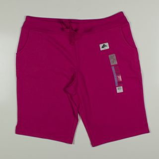 Womens Nicole Miller Active Stretch Lounge Bermuda Shorts Sz L Pink