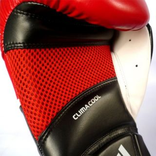 Adidas ClimaCool Boxing Gloves Mens Pull on Bag Black and Red New