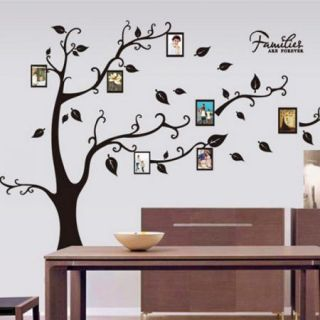 Family Photo Frame Tree with Branches Art Vinyl Removable Wall Decal Sticker