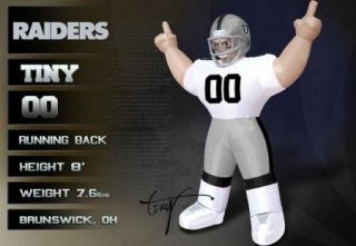 Oakland Raiders NFL Large 8 ft Inflatable Football Player