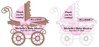 Unique Personalized Baby Shower Party Favor Thank You Gift Tags U Choose Color