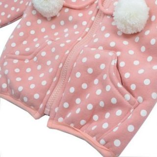Baby Girls Winter Coat Jacket 1 5Y Kids Warm Hooded Top Shirt Rabbit Hat Outwear