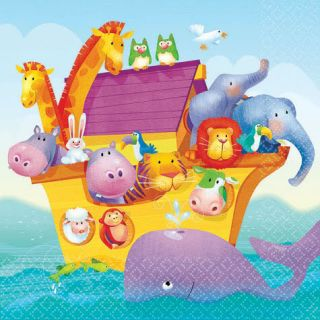 Noahs Ark Baby Shower Cake Napkins Party Supplies 16ct Party Supplies