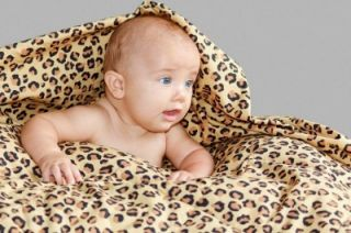 Metallic Cowboy Leopard Print Cot Quilt 100 Cotton Great Baby Shower Gift Idea