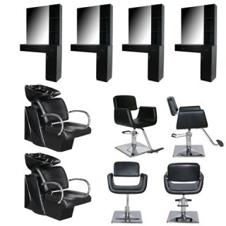 Salon Equipment Styling Station Chair Shampoo Backwash Unit Bowl Package EB 13