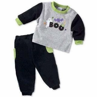 New 24 Months Baby Infant Halloween Ghost Bat Boo Holiday Top Pants Toddler