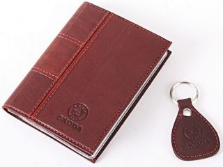 New Leather Auto Documents Holder Cover Drivers LICENCE Insurance Skoda
