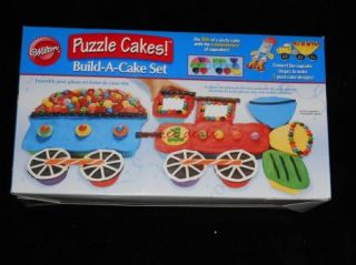 Wilton Transportation Puzzle Cakes Silicone Cupcake Build A Cake Set New