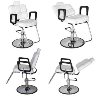 4X New Salon Equipment Multi Purpose Reclining Hydraulic Styling Chair MP 61R W