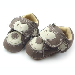 New Infant Baby Boys Monkey Face Walking Shoes 3 6M