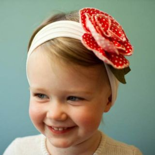 Flower Bow Headband Hair Clothing Kid Newborn Girls Baby Infant Toddler Children