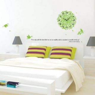 Wall Art Ivy Wall Clock Home Decor Wall Sticker Decal