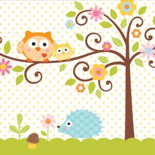 Happi Tree Owl Girl Baby Shower 1st Birthday Woodland Forest Hoot Whoo