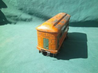 Pre War American Flyer Lexington Lighted Observation Caboose Railroad Train Car